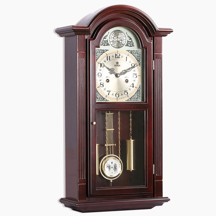Large wooden wall clock pendulum mechanical watches ...