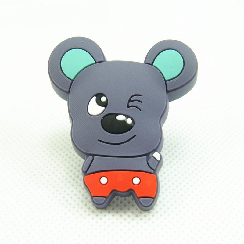 Гаджет  Kitchen Cabinet Knobs Grey Mouse Drawer Pull Soft Plastic Kids Dresser Knobs None Мебель