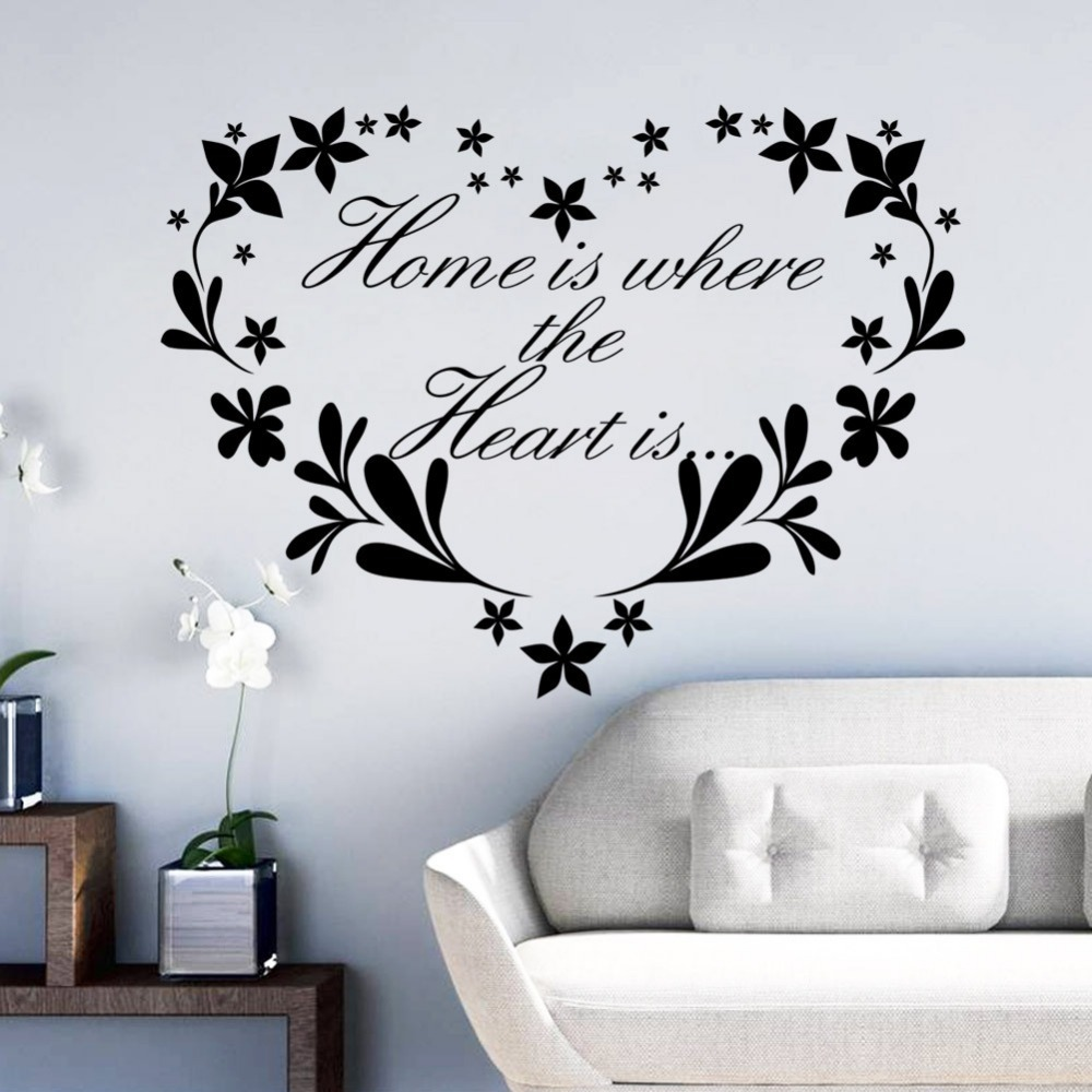 Love Flowers Wall Characters stickers Decoration Living ...