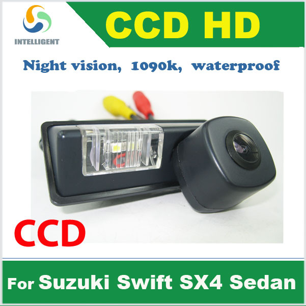Real HD CCD Car parking camera For Suzuki Swift SX4 Sedan color waterproof Night vision 520 TV line Pixel 728*582(China (Mainland))