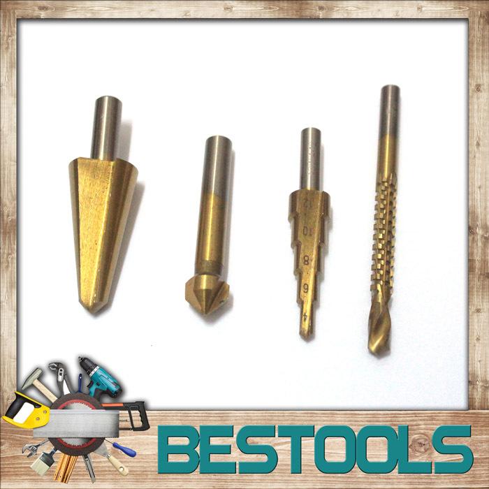 HSS4241 High Speed Steel Core Drill Bit Set Cutting Tools 6mm/4-12mm/8-20mm/12.4mm*90degree