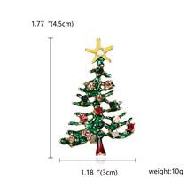 Rinhoo 2018 рождественские эмалированные Чулки со снеговиком Санта, дерево, брошь на булавке рождественские подарки для женщин и мужчин броши по...(China)