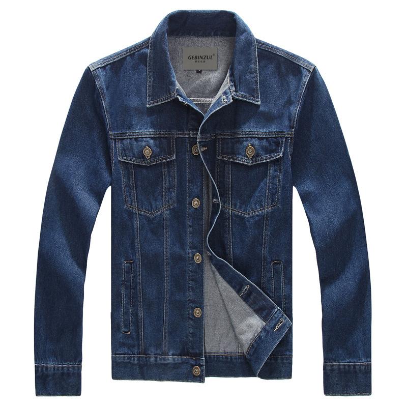 M-8XL Man Spring Autumn 2016 Denim Jacket Coat Men Sportswear Outdoors FashionJackets, Jeans Jacket Plus Size(China (Mainland))