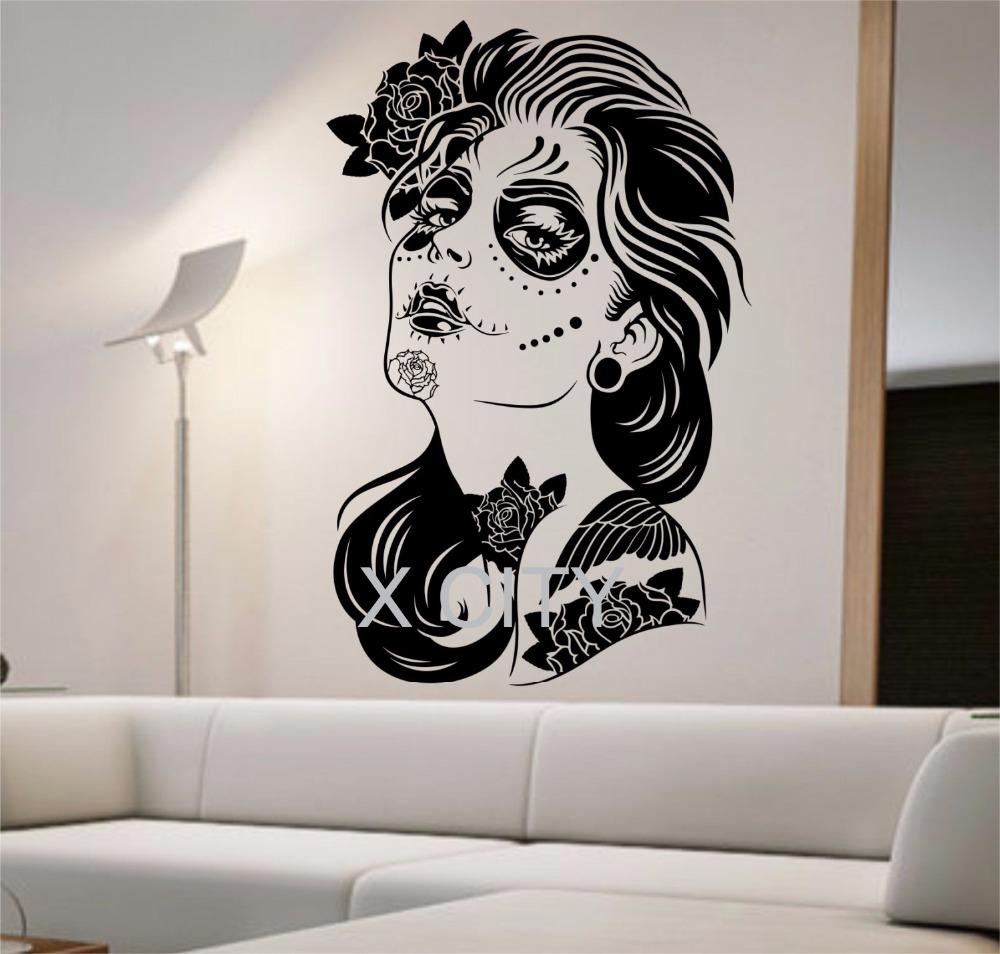 http://g02.a.alicdn.com/kf/HTB1LDjxLFXXXXbgXFXXq6xXFXXXb/Dag-van-de-Dode-Muurtattoo-ROZEN-MEISJE-Vinyl-Sticker-Art-Decor-Thuis-Slaapkamer-Ontwerp-Mural-interieur.jpg