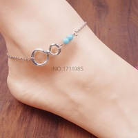 HOT Summer 16 style Beach Anklets Bracelet on a leg Sexy Chain on Foot Anklet For