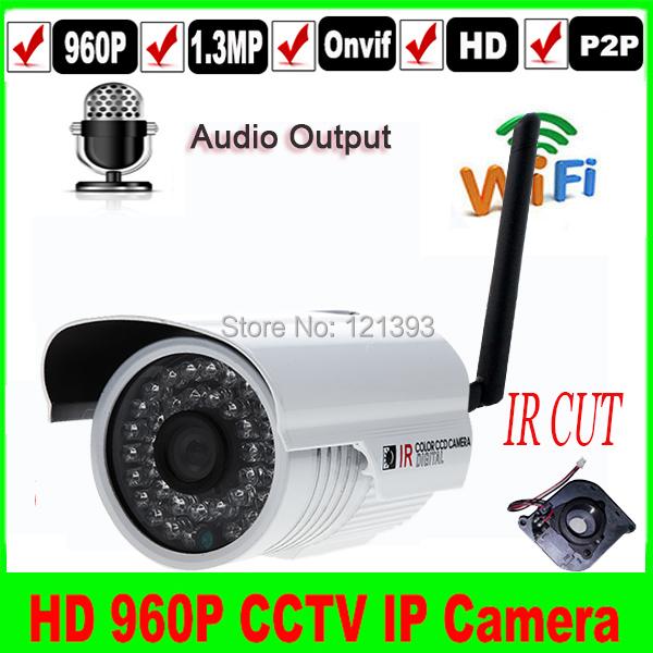 Гаджет  1.3MP onvif Wireless 960p wifi audio outdoor home security IR p2p 3.6mm lens IP camera Audio output 1280*960P None Безопасность и защита