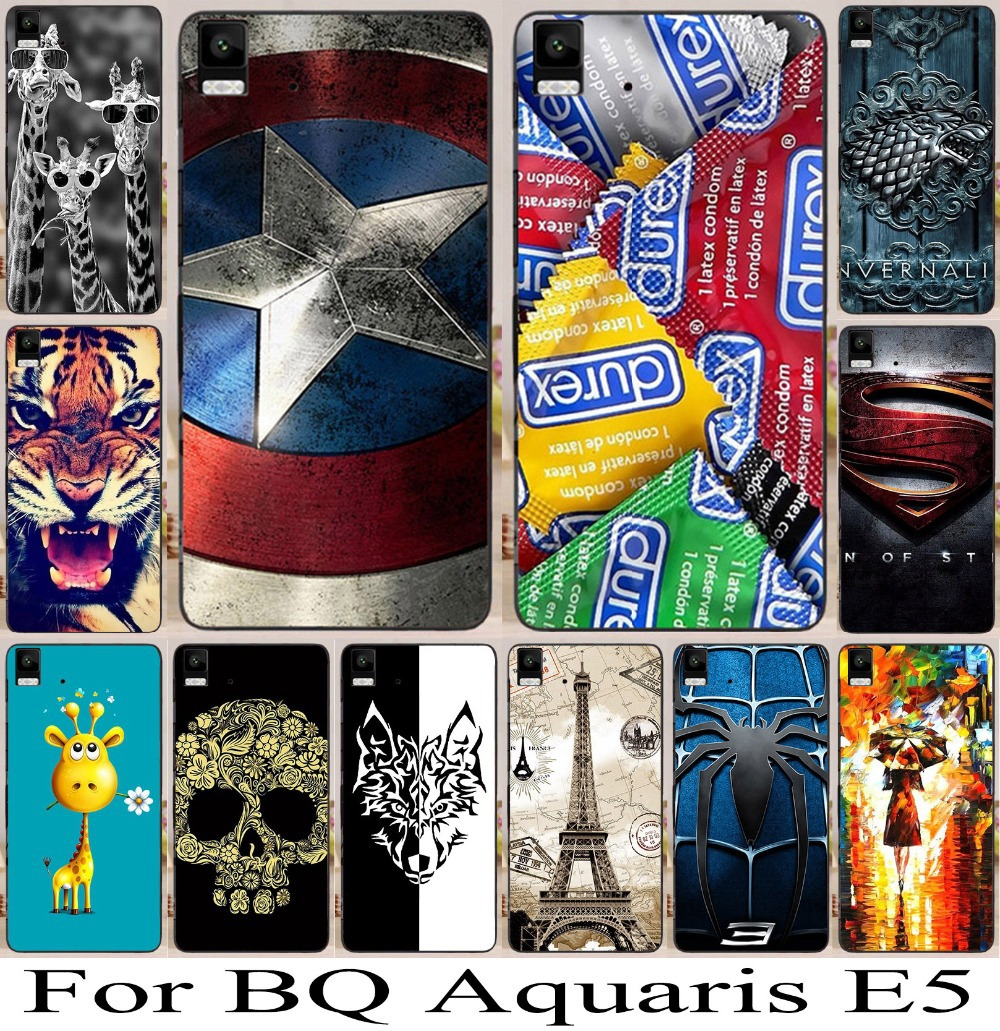 (only for 3g version) Plastic New Stylish Phone Case Cover For Bq Aquaris E5 Cool Pattern Cell Hard Back Freeshipping 1pc/lot(China (Mainland))