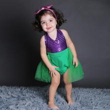 New Born Baby bodysuit Cute Animal Mermaid Onesie Design Infant Green with Purple Girls Jumpsuit Shoes 4pcs Clothing Sets 2015