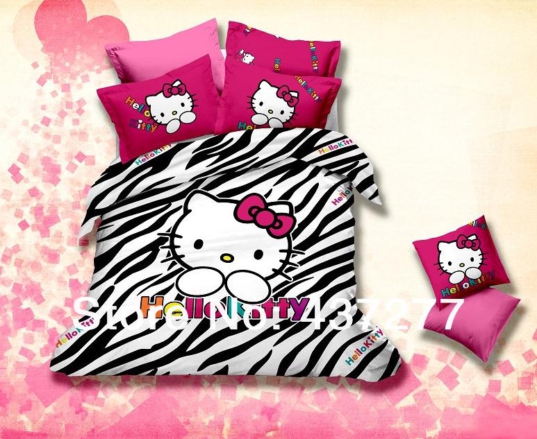 Hello Kitty Complete Slaapkamer : Zebra Hello Kitty Bed Set