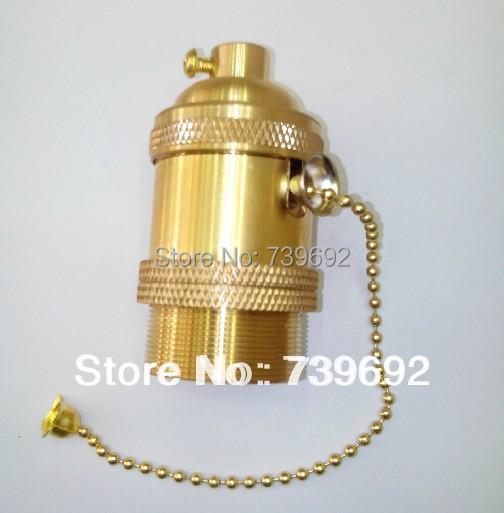 Free shipping Vintage light bulb pendant light kit diy accessories fashion pendant light e27 zipper copper lamp holder(China (Mainland))