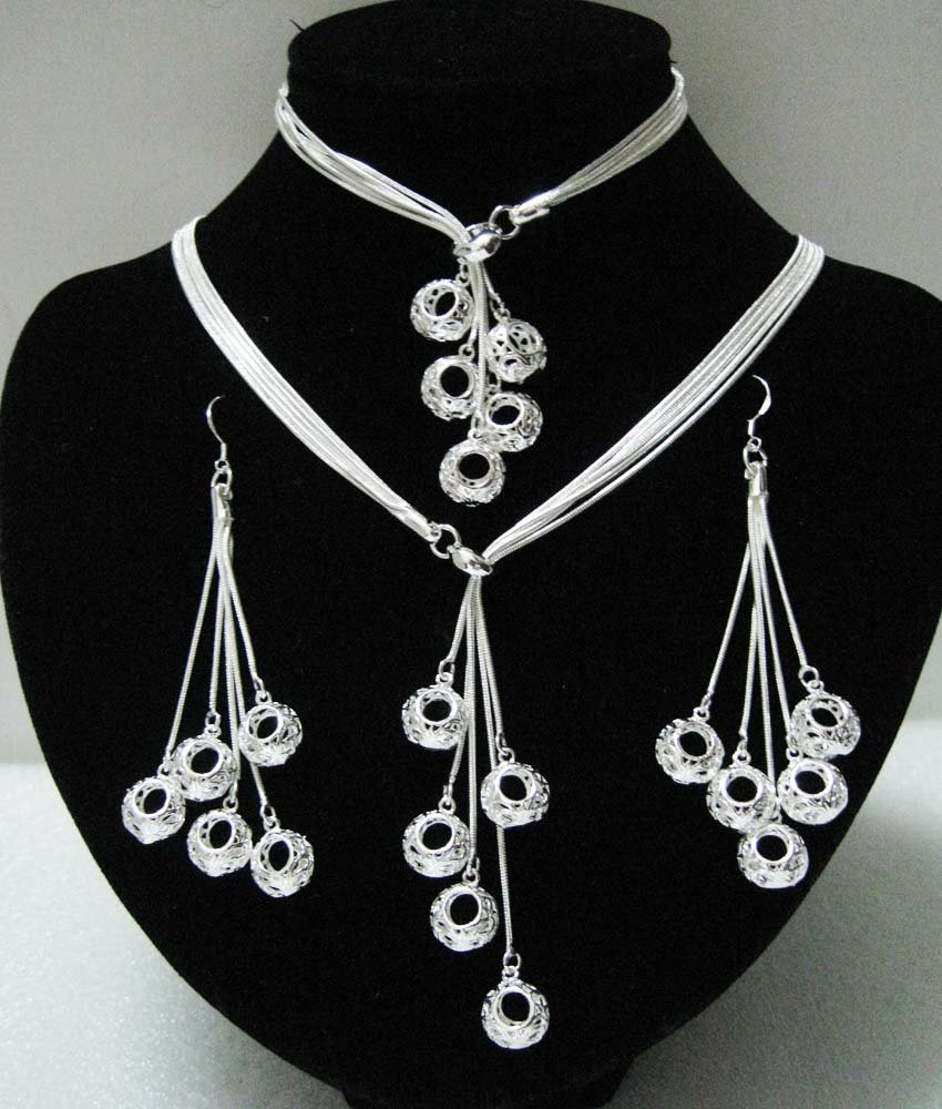 EVYSTZ (13) price fashion silver Mulit pendant jewelry set women - Evan Store store