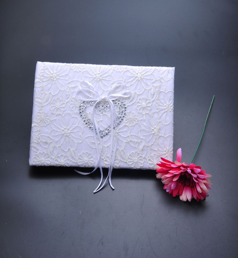 4pcs set hot sale Sweet Love Wedding Decoration Supplies Wedding Guestbook Flower Basket Pen Ring Pillow