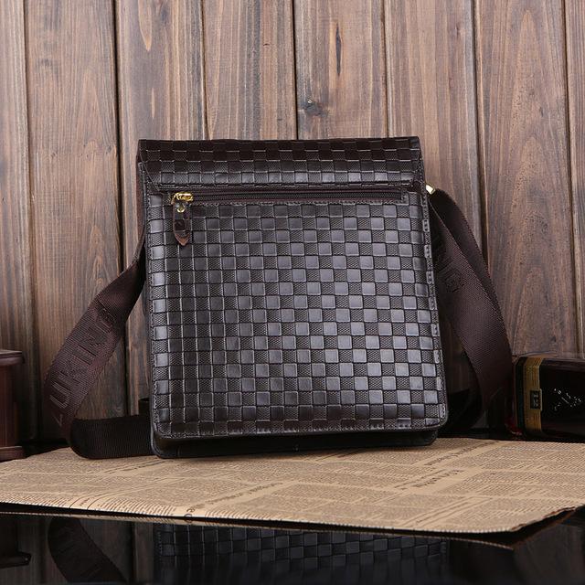 2013 factory direct new leather shoulder bag&Men's Messenger Bag&Business Briefcase embossed squares