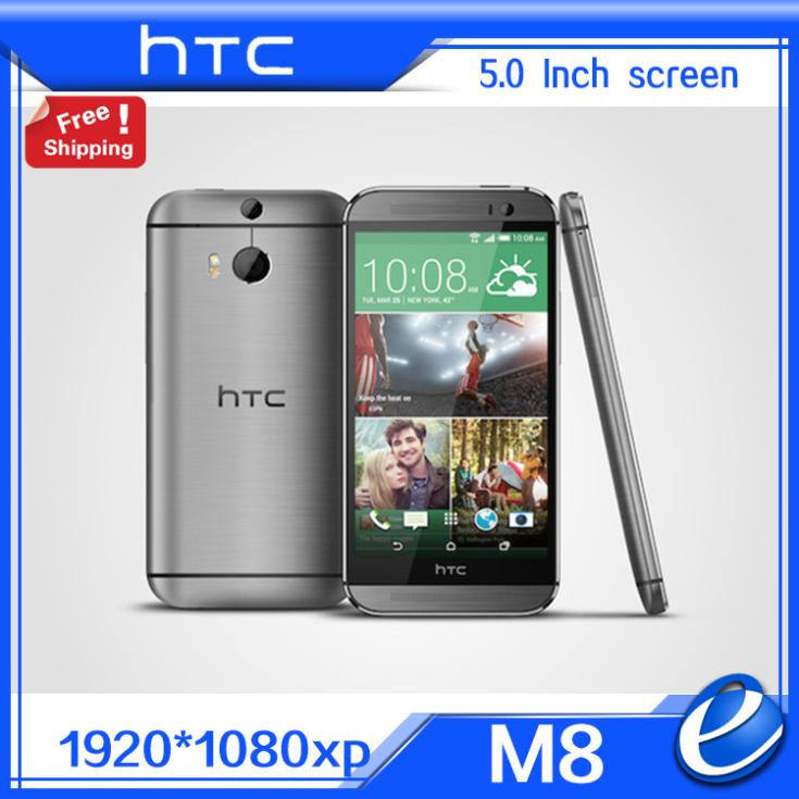 "Original HTC One M8 Unlocked GSM 3G 4G 3 Cameras Android 5.0 Quad core RAM 2GB 32GB Mobile Phone 5.0"" 4MP refurbished EU ver(China (Mainland))"