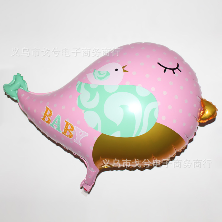 1PC Pink And Blue Bird Foil Balloons Happy Birthday Balloon For Children's Party Decoration Air Balloons Globos Drop Shipping(China (Mainland))