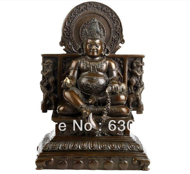 Http Www Aliexpress Com Item 27 5cm Tibetan Buddhist Bronze Statue Wealth Buddha Home Decor Brass Buddha Sculpture 5 6kg 1227194875 Html