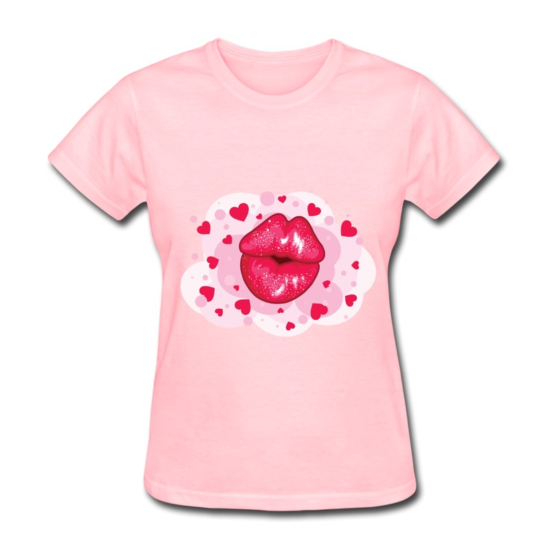 Printed Short Sleeve T Shirt Girl Lovely ip Love Couples Tee for Lady Short-Sleeve(China (Mainland))