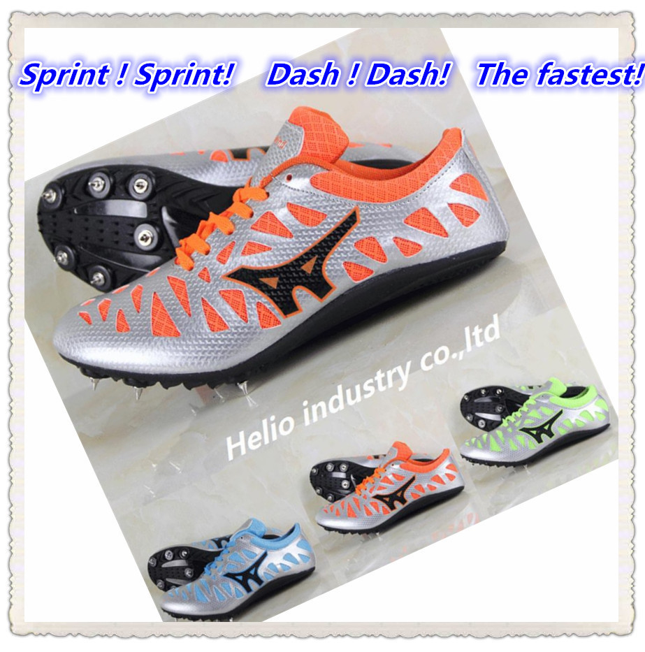 ultralight long race sprint dash spikes track & field shoes men trainers sport breathable athletic sneakers light running shoes(China (Mainland))