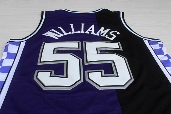 Ретро баскетбол джерси сакраменто # 55 джейсон williams # 4 криса уэббера # 10 майк бибби джерси, возврат джерси рубашки
