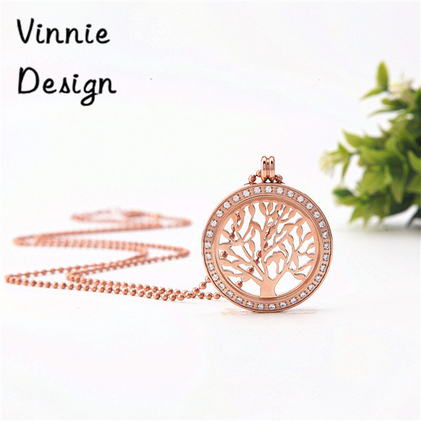 Vinnie Design Jewelry Silver Gold Rose Gold Plated Tree of Life Pendant Necklace My Coin Necklaces for Women(China (Mainland))