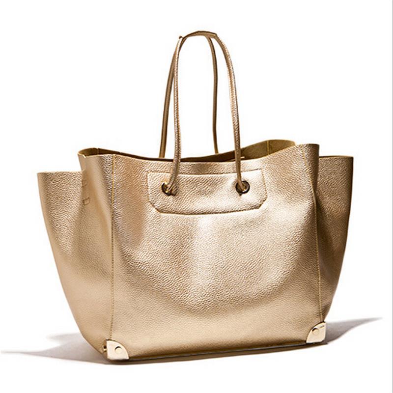 New Big Shoulder Bags Woman Bags Fashion 2016 Women Large Tote Gold Bag Ladies Handbag Famous Brands Bolsas Mujer Crossbody bag(China (Mainland))