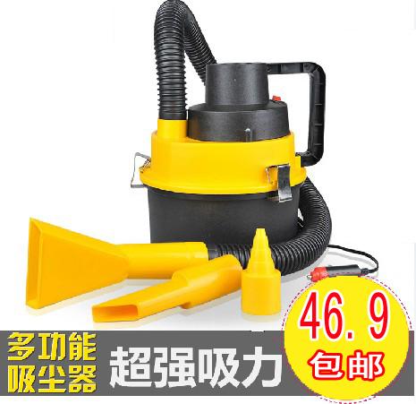 Drum car vacuum cleaner car vacuum cleaner trainborn 120w high power wet and dry car vacuum cleaner(China (Mainland))