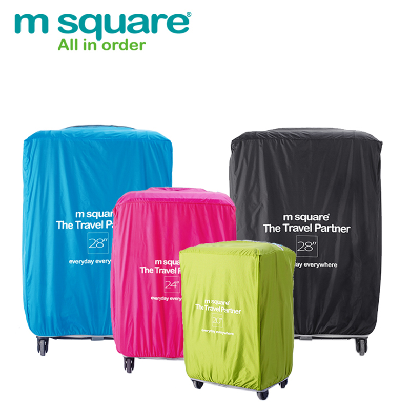 M Square Waterproof Travel Luggage Covers 3 Size 20 24 28 Inch Trolley Suitcase Cover Luggage Protective Covers Nylon Protector(China (Mainland))
