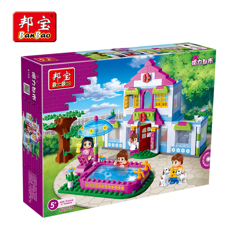 Toys For Girls Age 10 : Series of small cottages luban assembling toys girls