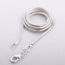 Hot !!!  Wholesale Price !! silver snake necklace 2mm,silver chain necklace ,Silver jewelry, wholesale fashion chain necklace(China (Mainland))