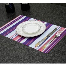 (4Pcs Placemat+4Pcs Coasters) PP Print Waterproof Plastic Dining Nappe Kitchen Decoration For Table Dining Table Accessories