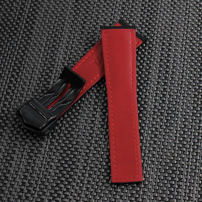 Черный ремешок из натуральной кожи ремешок 20 мм 22 мм высокое качество ремешок