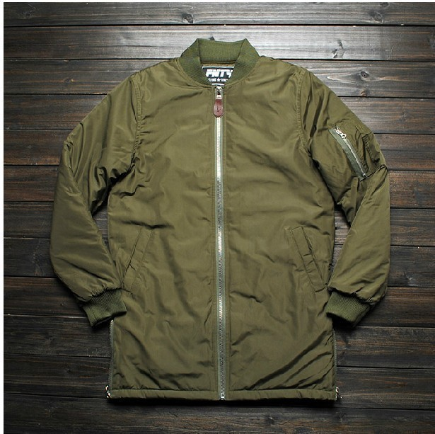 Side Zip Design High Quality Extreme Winter Coats Mens Designer Clothes Men Urban Clothing Men Long