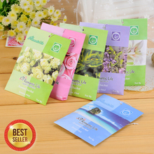 Lovely 9 Taste Fresh Air Scented Fragrance Home Wardrobe Drawer Car Perfume Sachet Bag New 5pcs/Pack(China (Mainland))