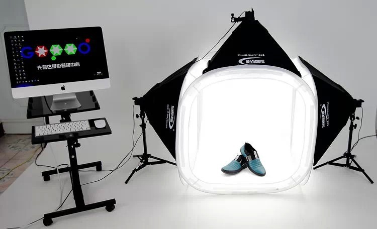 free shipping by dhl photo tent table photography soft box kit 80x80cm photo tent set kit in. Black Bedroom Furniture Sets. Home Design Ideas