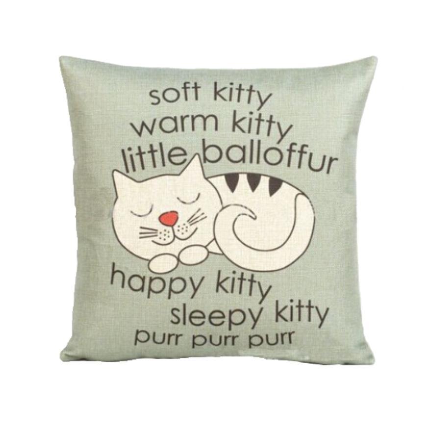 New Qualified Pillow Case Cat Sofa Waist Throw Cushion Cover Home Decor dig6322