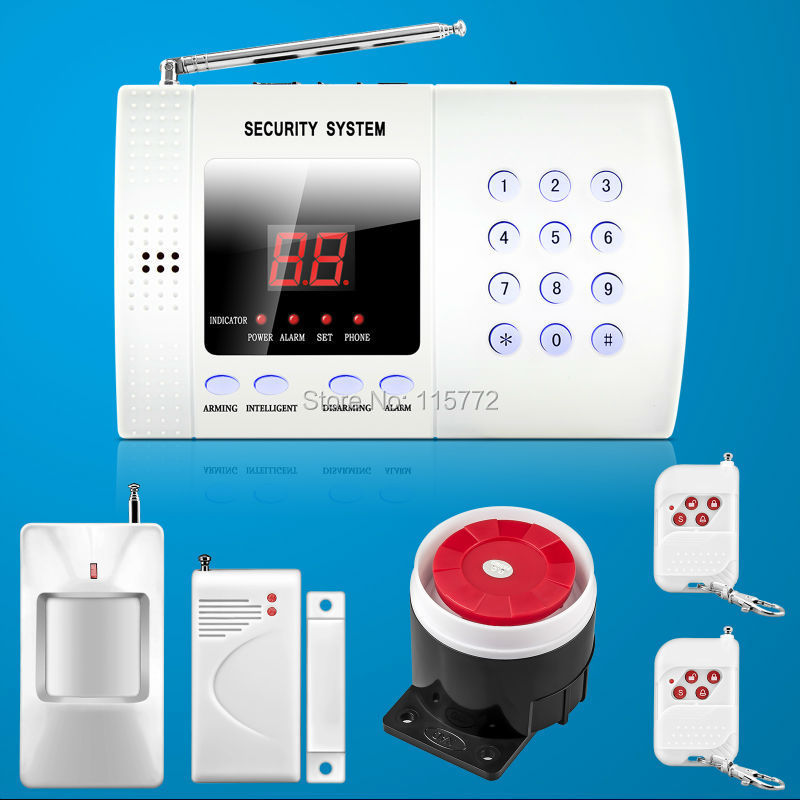 4pcs/lot Wireless 99zone Autodial PIR Home Security Burglar Alarm System Easy DIY via DHL Free Shipping<br><br>Aliexpress
