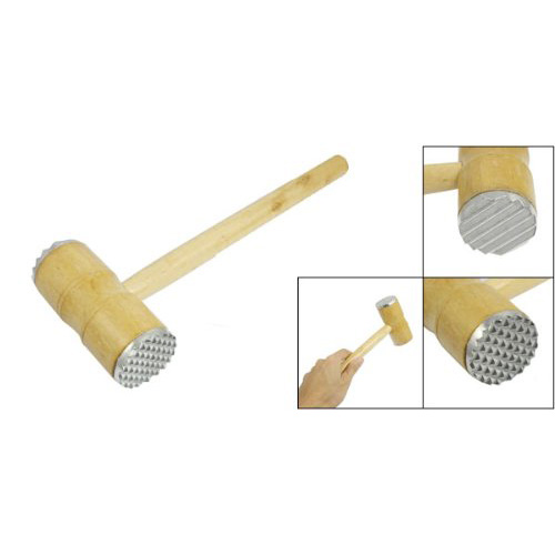 GSFY Wholesale New 165g Silver Kitchen Dual Pyramid-shaped Heads Tenderizer Meat Hammer Tool<br><br>Aliexpress