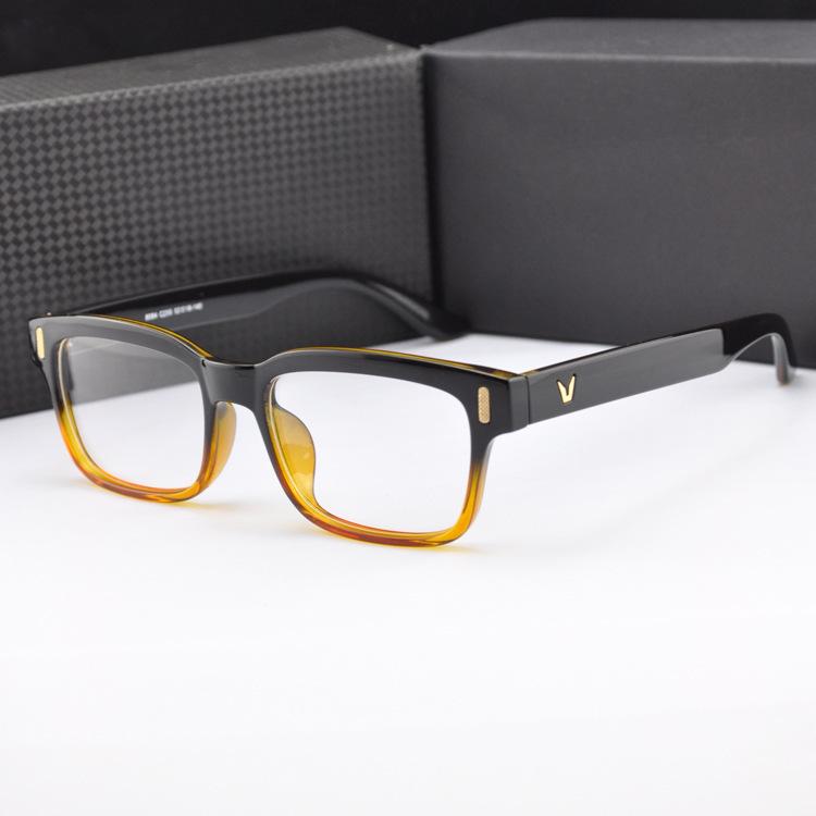 NewV Shaped Box Eyeglasses Frame Brand For Women Fashion Men Optical eye glasses Frame Eyewear Oculos
