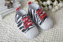 Hot Selling Baby Boy Zebra Sport Shoes Learning Walk Prewalker Shoes For Baby Girl Soft Bottom Infant Anti-slip Lace-Up Footwear(China (Mainland))