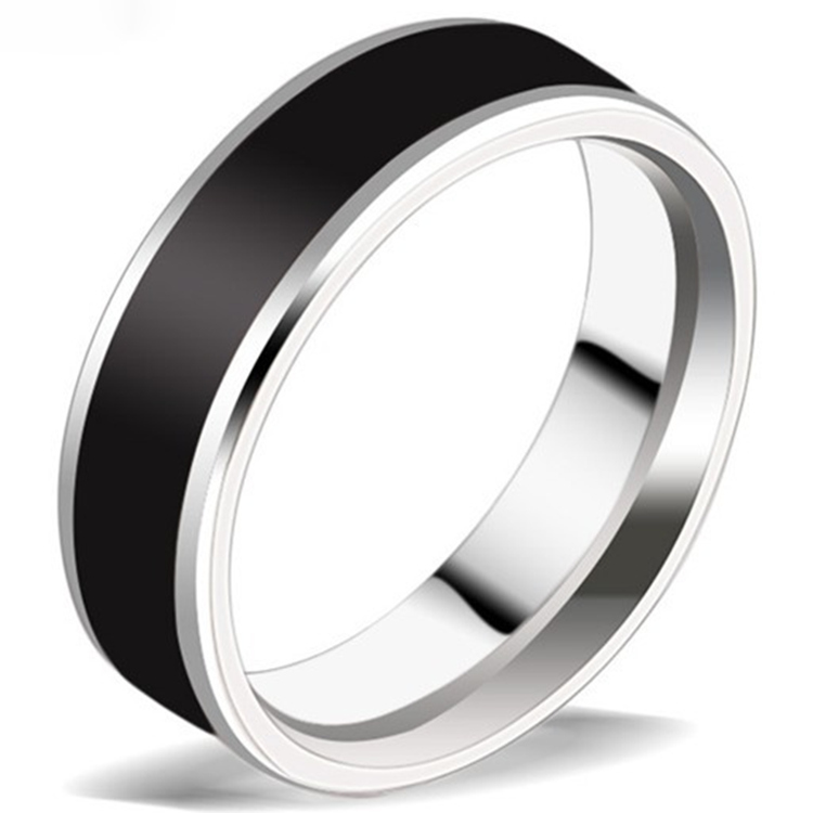 2016 Fashion 316L Stainless steel Ring for Men And Women Rings Center Cool Black 6mm Wide IR106 Men Ring JR2095(China (Mainland))