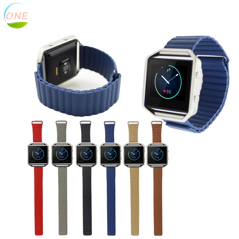 Hot Sale Strap Band for Fitbit Blaze Tracker Smart Fitness Watch Leather Loop with Magnet Lock(China (Mainland))