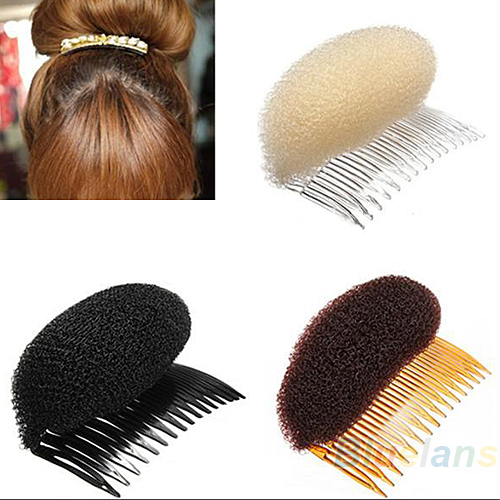 1pc Hair Styler Volume Bouffant Beehive Shaper Roller Bumpits Bump Foam On Clear Comb Xmas Accessories 1NN7(China (Mainland))