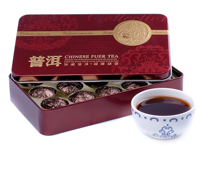 Promotion 15 Pieces Packs More than 40 Year Ripe Puer Tea Ancient Tree Top Grade Puerh