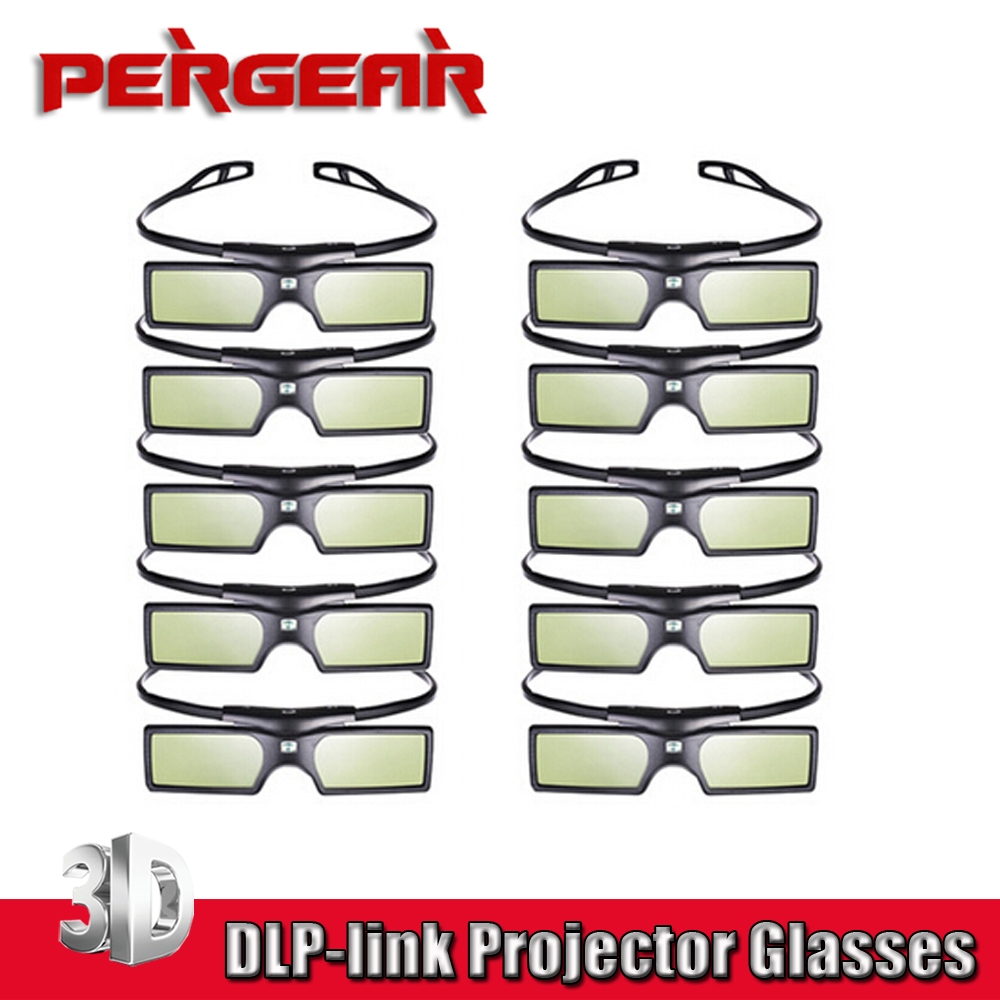 10pcs/lot Pergear G15 DLP 3D Active Shutter Glasses for DLP-LINK Porjector for 3D Projector Samsung Sony Acer Dell Vivitek(China (Mainland))