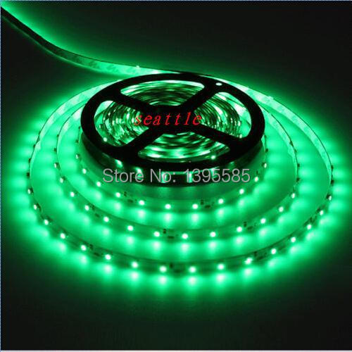 Green Color 3528 5M 60led/m 300led/roll No Non waterproof DC 12V SMD LED Flexible Strip wedding party Light(China (Mainland))