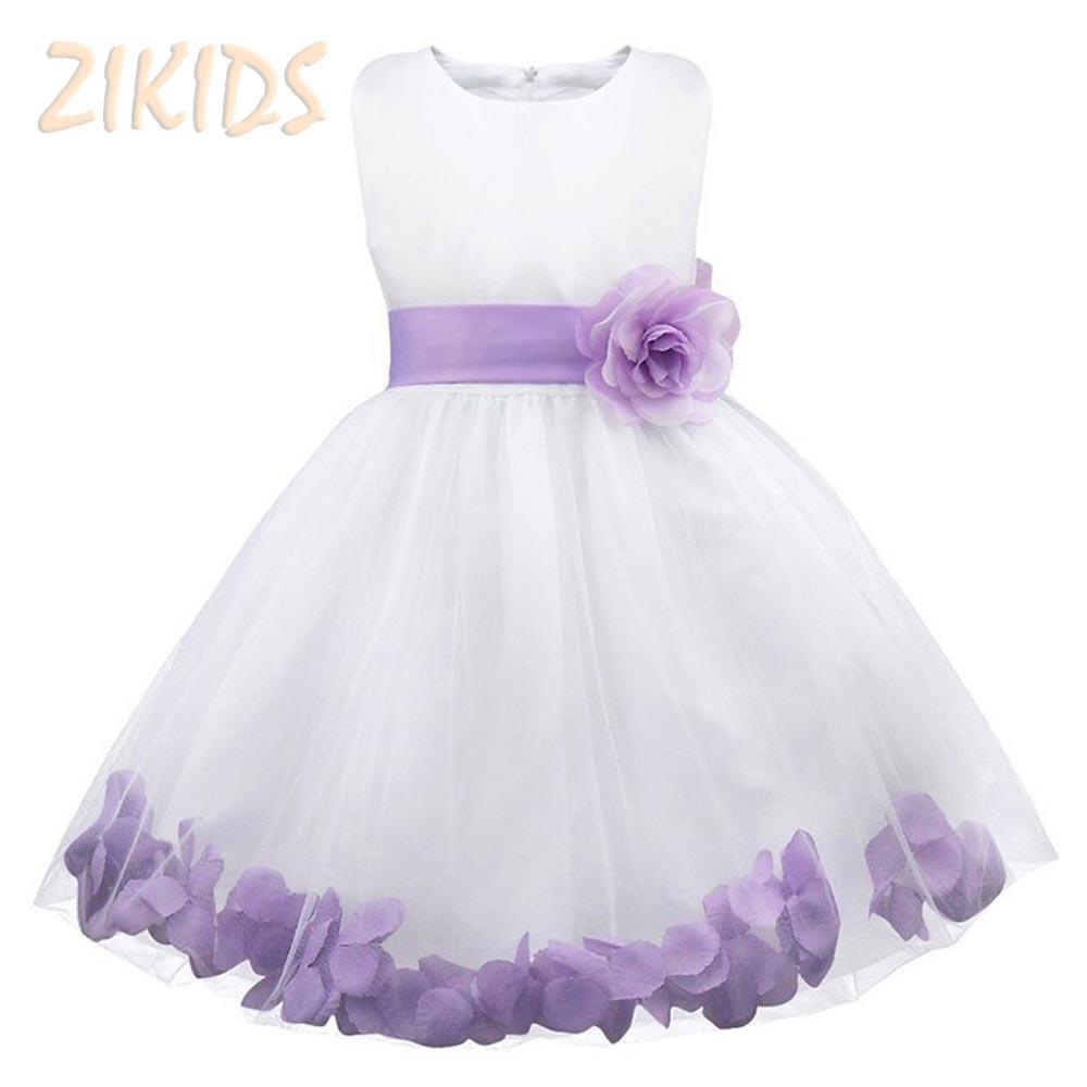 Flower Girl Dresses Diamond White Bridesmaid Dresses Sleeves