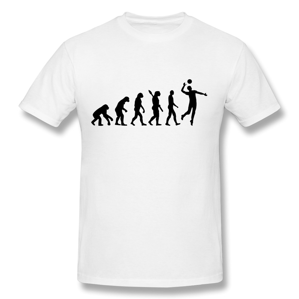 new 2014 custom round neck t shirt men evolution