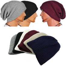 Hot Selling 2015 Chic Men Women Warm Winter Knit Ski Beanies Skull Bandana Slouchy Oversized Cap Sport Hat Unisex Bonnet Z1(China (Mainland))