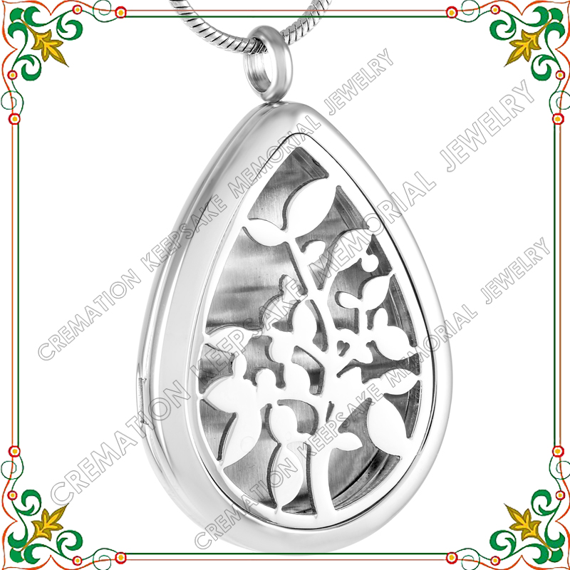 CMP0003 High Quality 316L S.Steel Lasting Fragrance Aromatherapy Diffuser Necklace, Water Drop Tree Of Life Perfume Locket(China (Mainland))