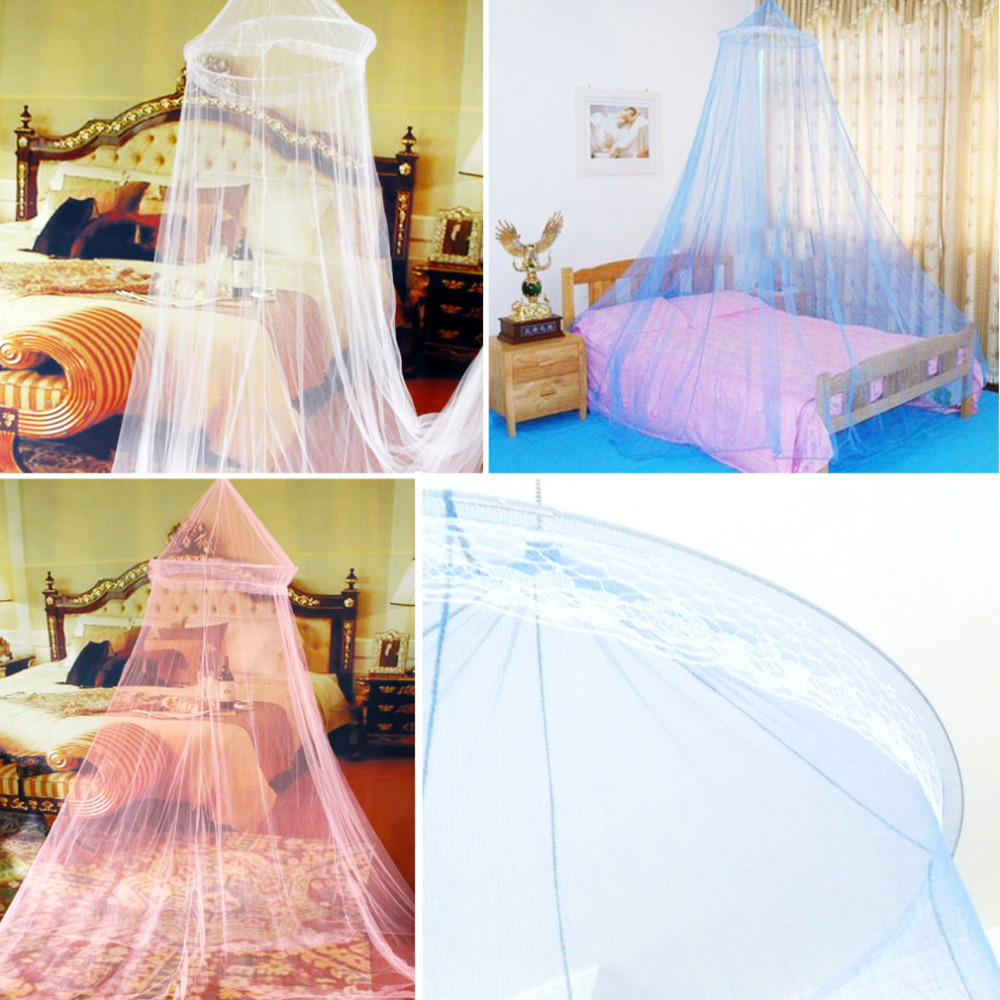 Hot 1pc Elegant Round Lace Insect Bed Canopy Netting Curtain Dome Mosquito Net Worldwide(China (Mainland))